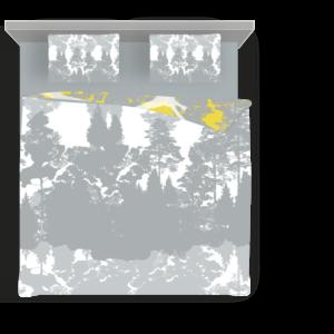 Suur voodipesukomplekt Luiged kollases; Double bedding set Swans in yellow