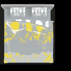 Suur voodipesukomplekt Luiged kollases; Double bedding set Swans in yellow; Bettgarnitur Schwäne in Gelb